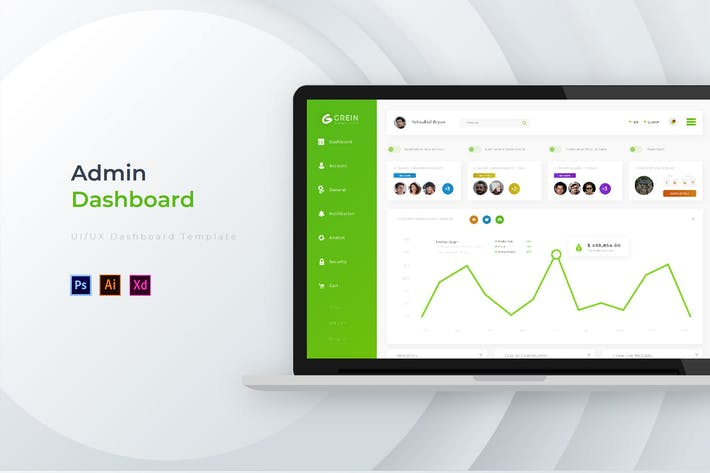 Cover Image For Grein Dashboard | Admin Template