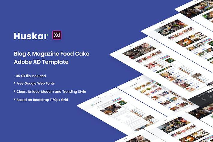 Thumbnail for HUSKAR - Blog & Magazine Adobe XD Template