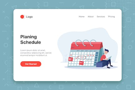Planing Schedule flat vector illustration concept