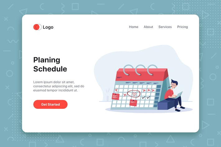 Thumbnail for Planing Schedule flat vector illustration concept
