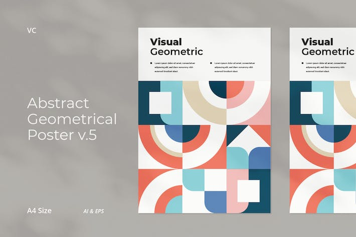 Thumbnail for Abstract Geometrical Poster v.5