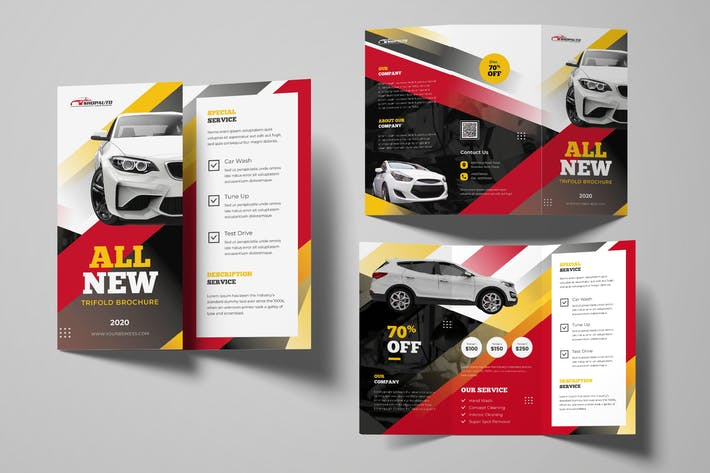 Thumbnail for Automotive Car Trifold Brochure