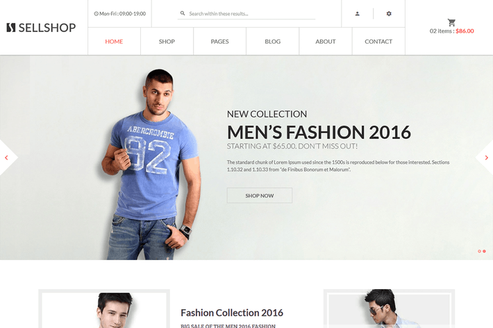 Cover Image For Sell Shop - eCoommerce HTML5 template