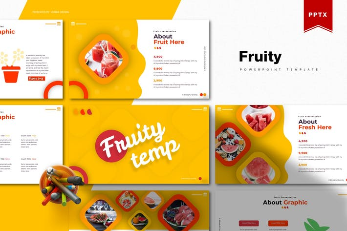 Thumbnail for Fruity | Powerpoint Template
