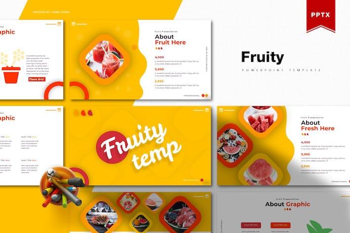 Thumbnail for Фруктовый | Шаблон Powerpoint