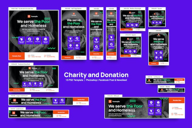 Charity and Donation Banners Ad