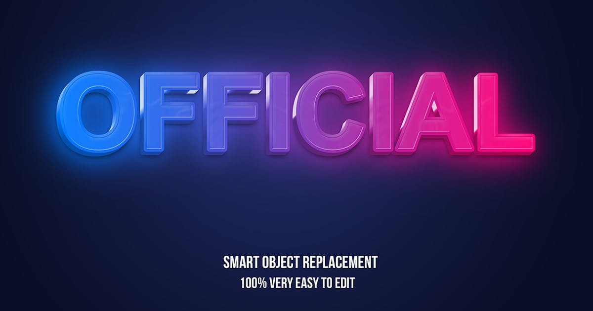 Download Red blue gradient neon glow text effect by wudelmbois