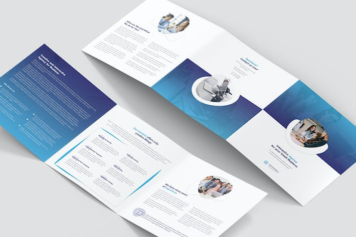 Thumbnail for Brochure – Interactive Agency Tri-Fold Square