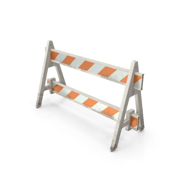 A Frame Barricade Dirty