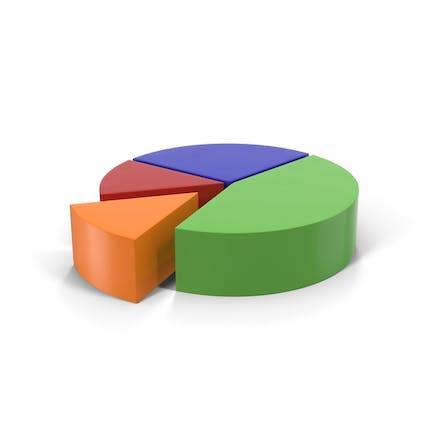 Multicolored Pie Chart Segment