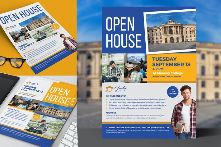 Cover Image For College Open House Flyer