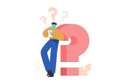 Questions Flat Illustration