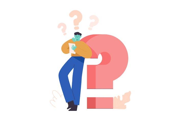 Fragen Flat Illustration