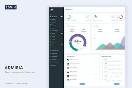Admiria - Admin Dashboard & Landing Page Template