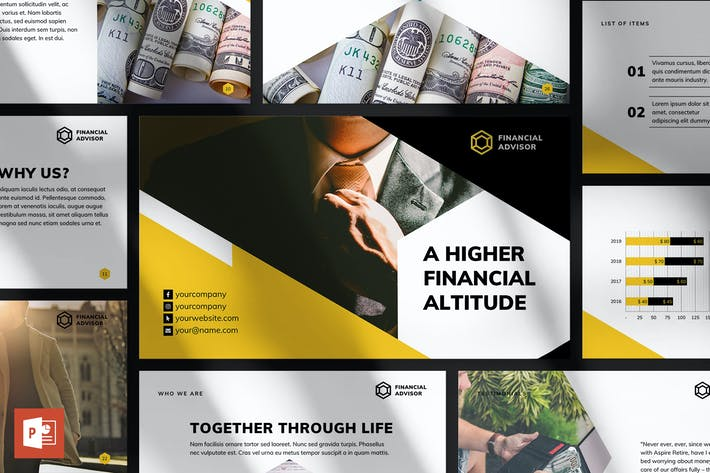 Cover Image For Financial Advisor PowerPoint Presentation Template