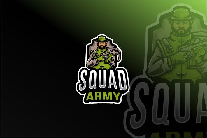 Thumbnail for Squad Army Esport Logo Template