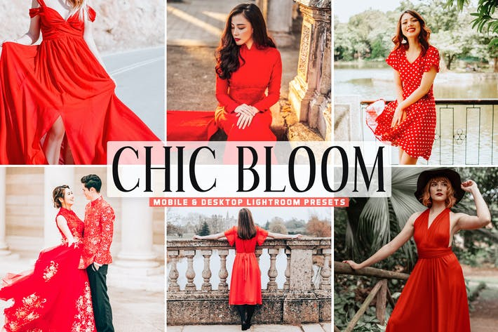Thumbnail for Chic Bloom Mobile & Desktop Lightroom Presets