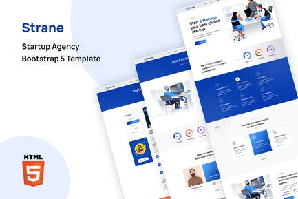 Strane - Startup Agency Bootstrap 5 Template