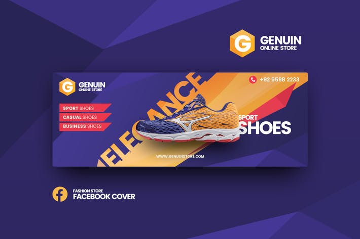 Thumbnail for Genuin shoes facebook cover template