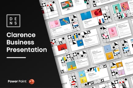Clarence – Pattern Business PowerPoint Template