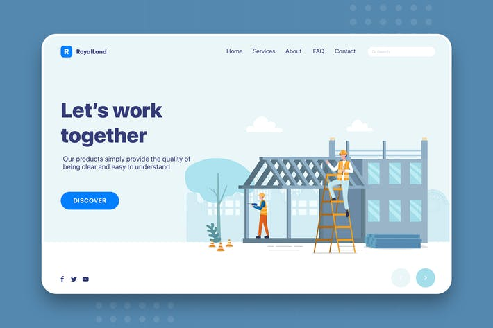 Thumbnail for RoyalLand - Construction Web Header Template