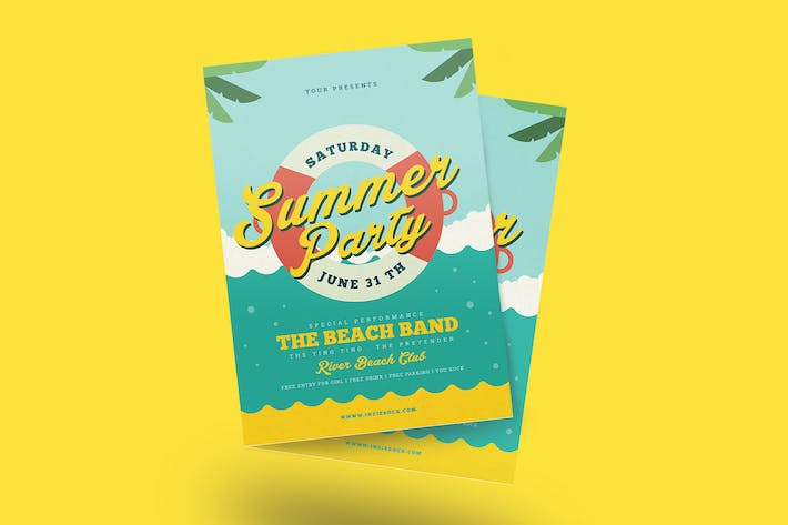 Cover Image For Summer Beach Party Flyer