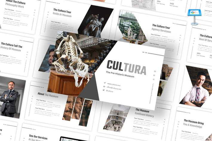 Thumbnail for Cultura - Museum Keynote Template