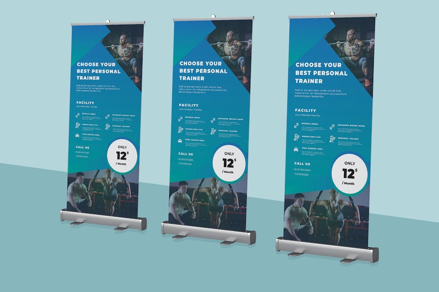 Gym Roll-up Banner Promotion