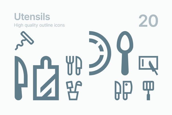 Thumbnail for Utensils Icons