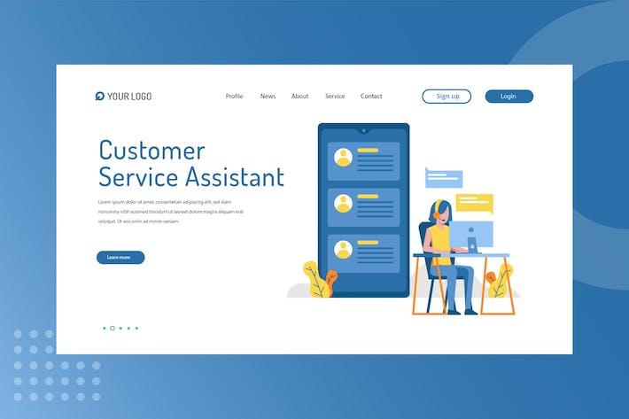 Kundendienst-Assistent — Startseite