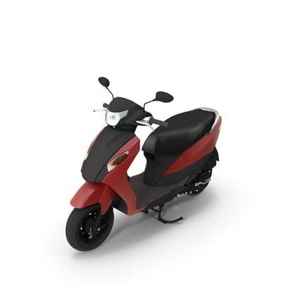 Red And Black Colored Scooter