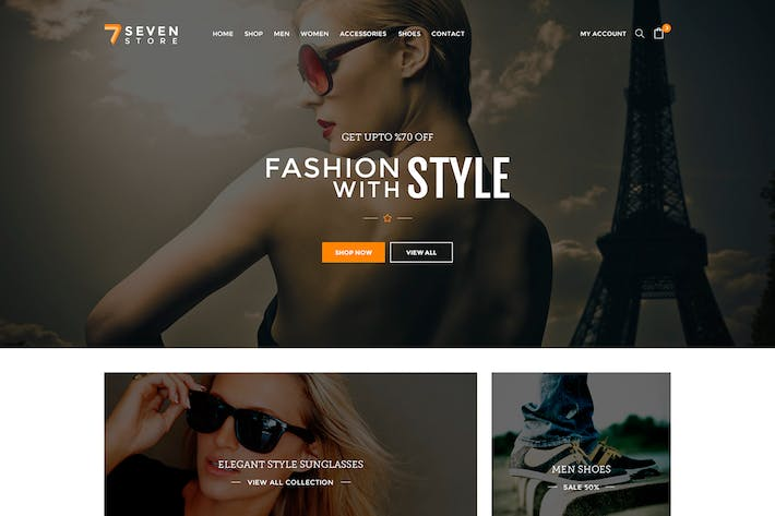 Thumbnail for Seven Store - Ecommerce PSD Template