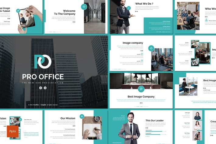 Thumbnail for Pro Office - Шаблон Powerpoint для бизнеса