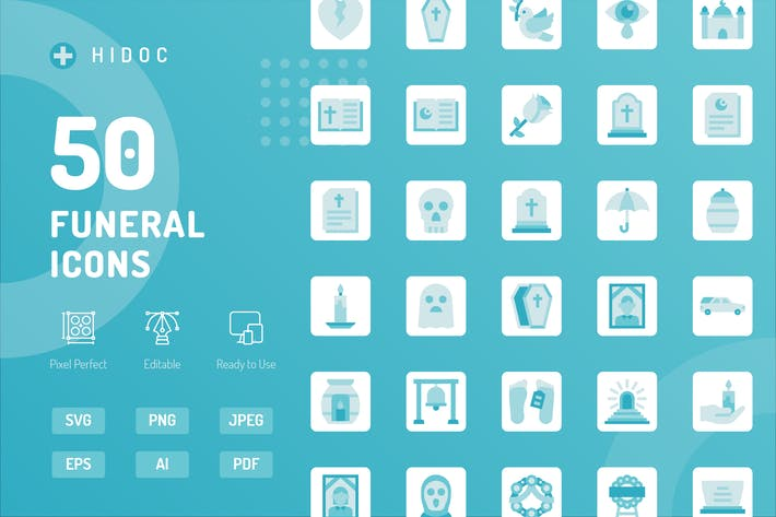 Thumbnail for Hidoc - Funeral Icons
