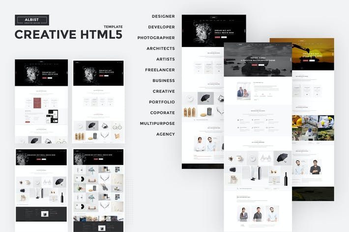 Thumbnail for ALBIST - Creative Multipurpose HTML5 Template