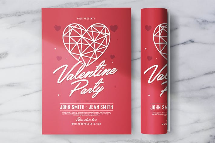 Thumbnail for Valentine Party Flyer