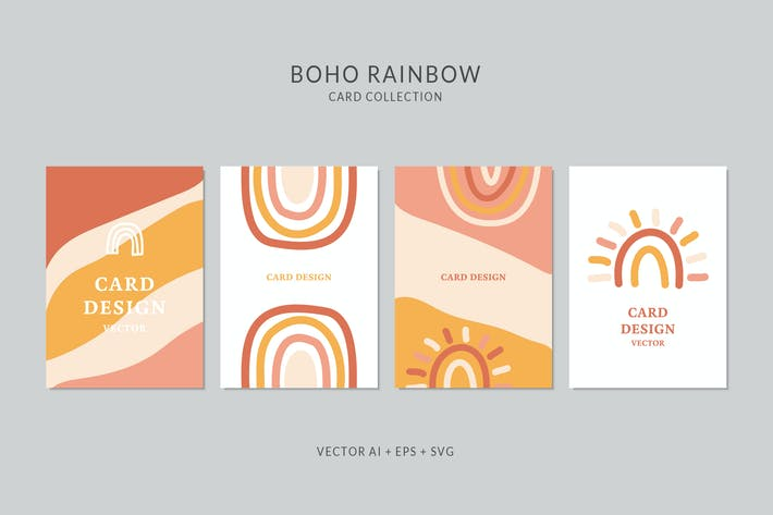 Thumbnail for Rainbow Vector Card Set