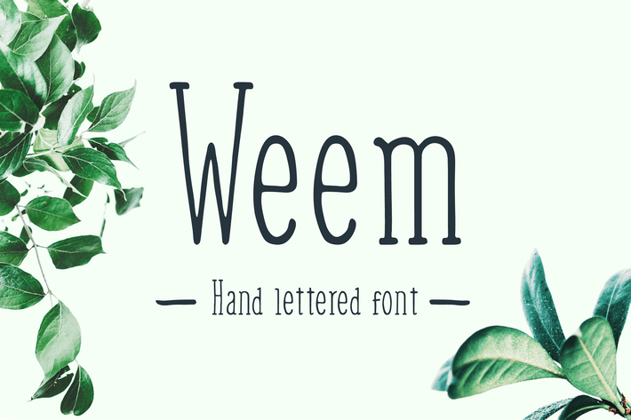 Thumbnail for Weem Hand Lettered Font