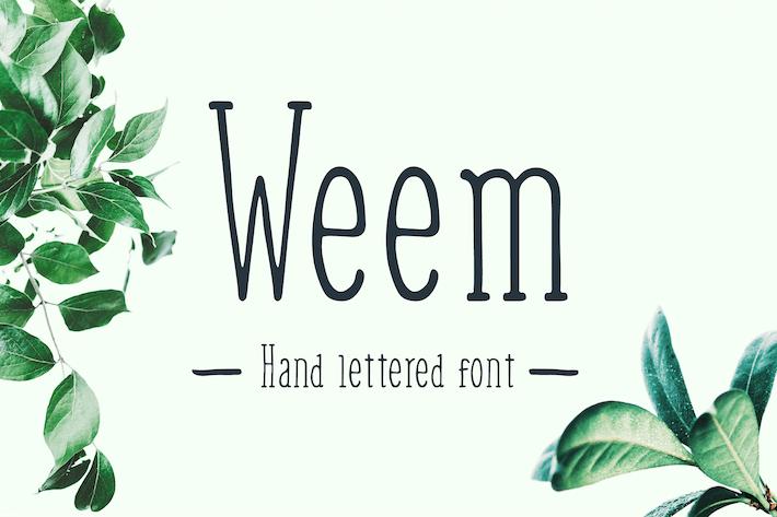 Thumbnail for Weem - Fuente con letras a mano