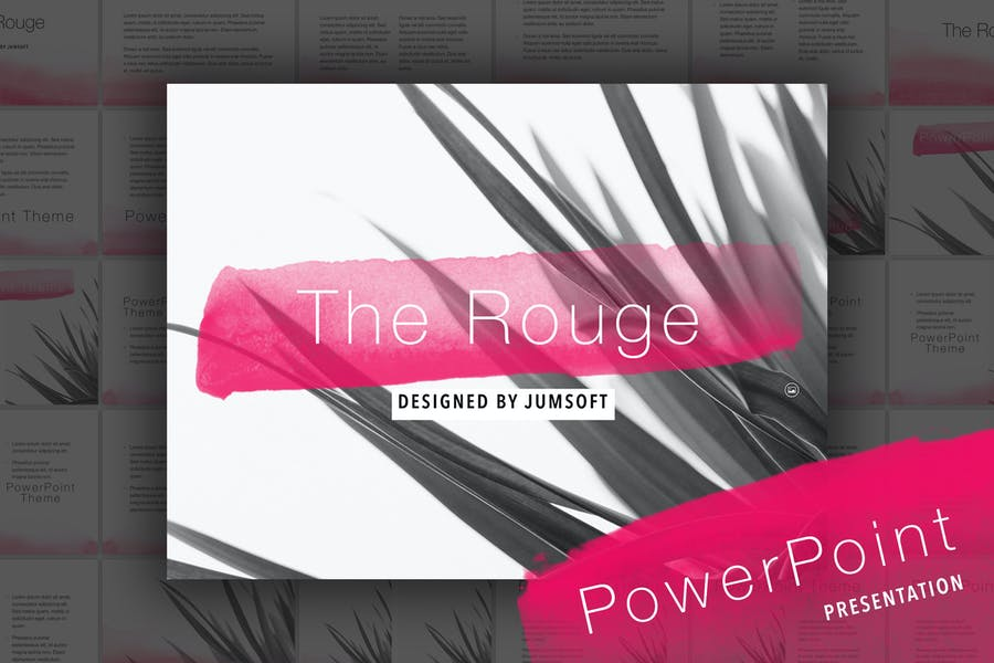 The Rouge PowerPoint Template