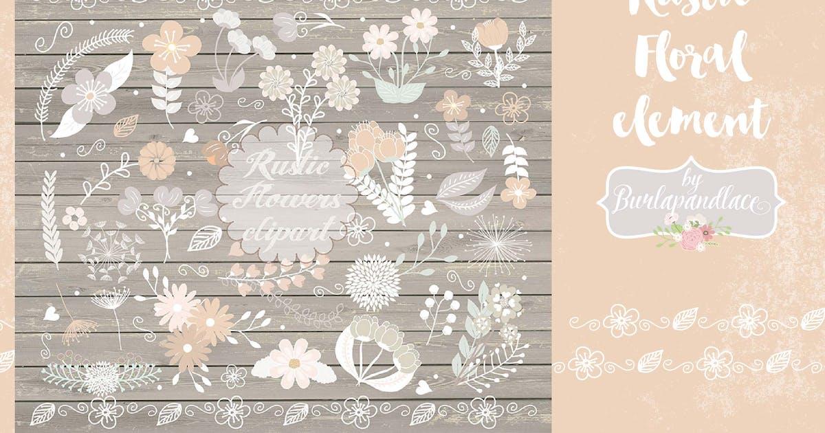 Download Vector floral clip arts by burlapandlace