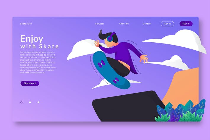 Thumbnail for Enjoy With Skate - Web Header  & Vector GR