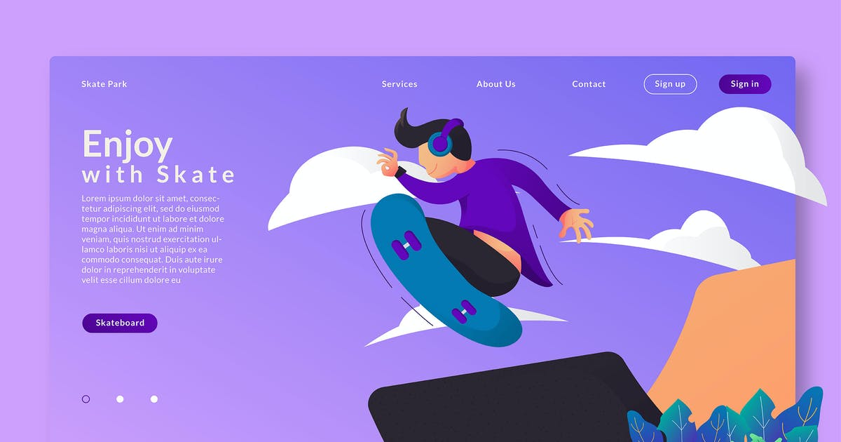 Download Enjoy With Skate - Web Header  & Vector GR by Rometheme