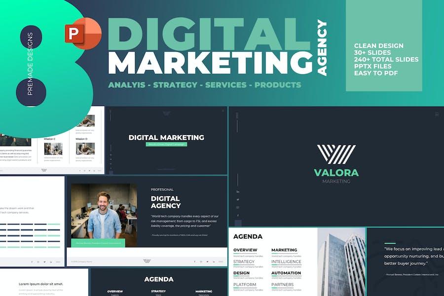 Plantilla de PowerPoint de marketing Digital