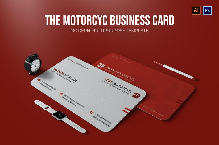 Vest Motorcyc - Business Card