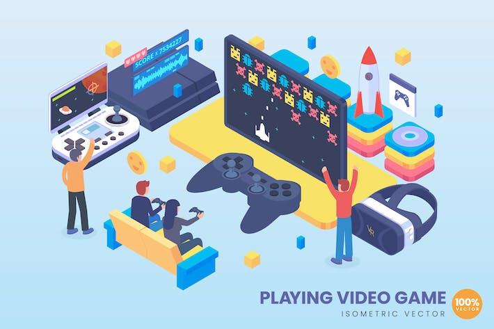 Thumbnail for Isometrische Spiel-Video spiel-Konzept