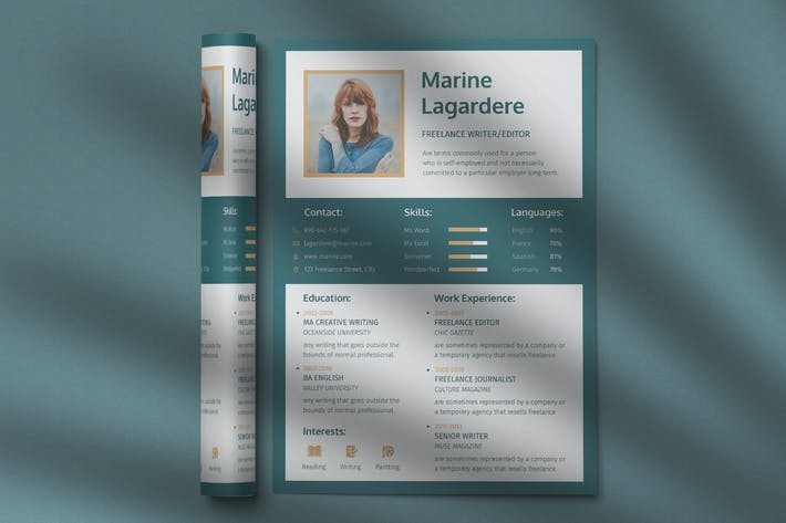 Thumbnail for CV Resume Professional Template Vol. 18