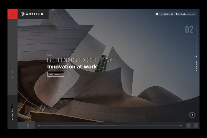 Arkiteq - Premium Architecture Website Slider