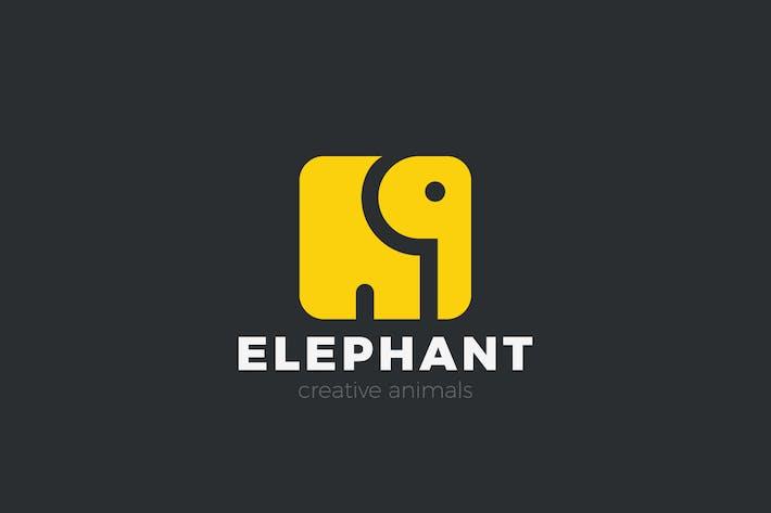 Thumbnail for Logo Elephant Square shape
