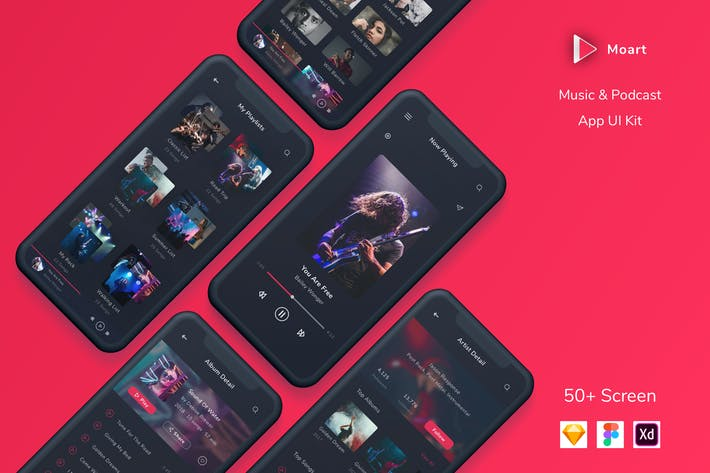 Cover Image For Moart - Music and Podcast App UI Kit